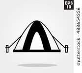 camping tent icon in trendy...