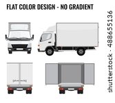 Vector Small Truck Front View...