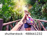 follow me. travel concept. back ... | Shutterstock . vector #488661232