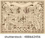 old mayan  aztec or pirate map... | Shutterstock .eps vector #488662456