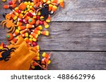 halloween candy copy space with ... | Shutterstock . vector #488662996