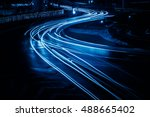 high angle view of traffic... | Shutterstock . vector #488665402