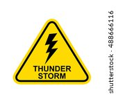thunderstorm sign. vector | Shutterstock .eps vector #488666116