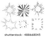comic book explosion set. | Shutterstock .eps vector #488668045