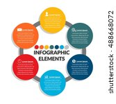 info graphic element  business... | Shutterstock .eps vector #488668072