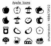 apple icons | Shutterstock .eps vector #488673922