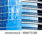 windows of business building in ... | Shutterstock . vector #488675188