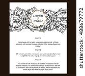 vintage delicate invitation... | Shutterstock .eps vector #488679772