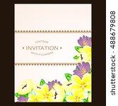 vintage delicate invitation... | Shutterstock .eps vector #488679808