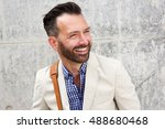close up portrait of cheerful... | Shutterstock . vector #488680468