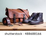 men's fashion with brown boots  ... | Shutterstock . vector #488688166