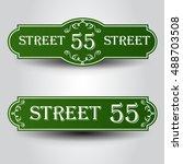 vintage styled house nameplate. | Shutterstock .eps vector #488703508