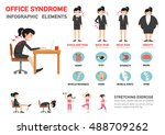 office syndrome infographic... | Shutterstock .eps vector #488709262