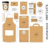 coffee house corporate identity ... | Shutterstock .eps vector #488711476