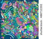 tracery seamless calming...   Shutterstock .eps vector #488712202