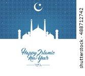happy new hijri year 1438 ...   Shutterstock .eps vector #488712742