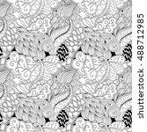 tracery seamless calming... | Shutterstock .eps vector #488712985