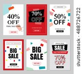 set of sale website banner... | Shutterstock .eps vector #488726722