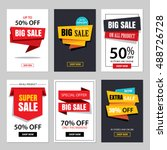set of sale website banner... | Shutterstock .eps vector #488726728