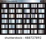set of silver gradients... | Shutterstock .eps vector #488727892