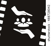 group of people and hands icon | Shutterstock .eps vector #488728042