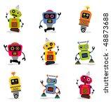 cute little robots set 2 | Shutterstock .eps vector #48873688