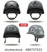 set of military tactical... | Shutterstock .eps vector #488737522
