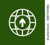 arrow   icon vector. flat... | Shutterstock .eps vector #488740486