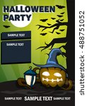 halloween poster a4. scary... | Shutterstock .eps vector #488751052