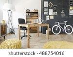 shot of a modern home office... | Shutterstock . vector #488754016