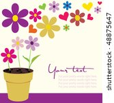 flower pot with copy space | Shutterstock .eps vector #48875647