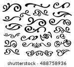 set of decorative elements... | Shutterstock .eps vector #488758936