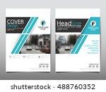 blue technology cover business... | Shutterstock .eps vector #488760352