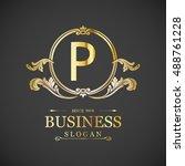 elegant p logo   Shutterstock .eps vector #488761228