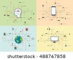 internet and networks design...   Shutterstock .eps vector #488767858