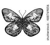 beautiful butterfly.isolated... | Shutterstock .eps vector #488769856