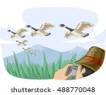 animal illustration featuring a ... | Shutterstock .eps vector #488770048