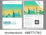 travel brochure design with... | Shutterstock .eps vector #488771782