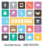 cooking icons set | Shutterstock .eps vector #488785396
