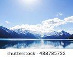 hike to turquoise garibaldi... | Shutterstock . vector #488785732