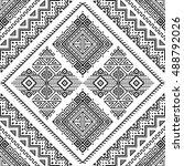 ethnic seamless monochrome... | Shutterstock .eps vector #488792026