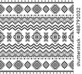 ethnic seamless monochrome... | Shutterstock .eps vector #488792032