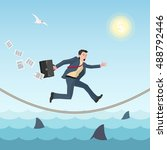 conceptual business... | Shutterstock .eps vector #488792446