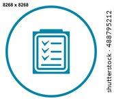 checklist icon vector