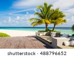 beautiful chill resort bar by... | Shutterstock . vector #488796652