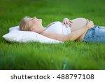 pregnant woman | Shutterstock . vector #488797108
