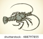 big old grey anthropod... | Shutterstock .eps vector #488797855