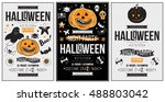 halloween party poster  flyer ... | Shutterstock .eps vector #488803042