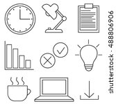 office and business icons | Shutterstock .eps vector #488806906