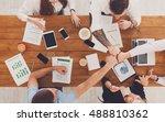 team bump fists  show... | Shutterstock . vector #488810362